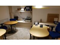 Desk available in office located close to Redhill town centre
