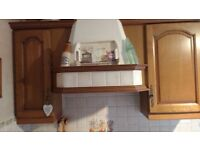 Kitchen cupboards, double oven and sink