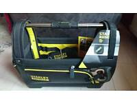 "Stanley STA193951 18"" Open Tote Tool Bag FatMax 1-93-951 Waterproof Base New"