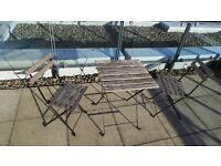 Patio Table +2 Chairs - moving house