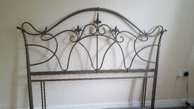 Beautiful metal headboard. For kingsize bed. Immaculate.