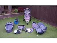 Quinny Speedi SX Buggy Pram Travel System - Pushchair / Carrycot / Car seat and extras