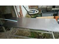 2 stainless still table