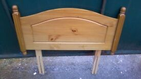 Lovely solid pine single bed headboard