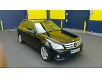 Mercedes C200 Diesel AMG Estate Black