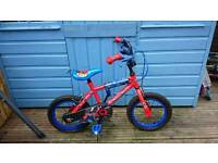 "Boys Spiderman BMX Bike 14"" wheels"