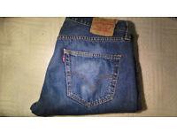 Levi's Original 501 Men's Mid Blue Denim Straight Leg Button Fly Jeans W36 L34