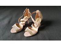 Blush Shasha Heeled Sandals - Brand New