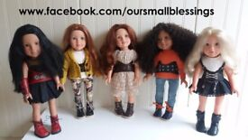 Handmade, bespoke outfits to fit Design a Friend Dolls DOLL NOT INCLUDED