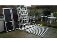 Boss youngman aluminium scaffold tower