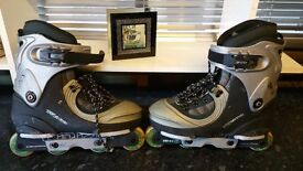 Inline skates in good used condition! few scraches. Size 6 can deliver!