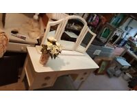 Beautiful top quality dressing table with bevelled triple mirror