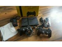 Sony ps2 slim black boxed with accessories working order