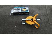 "For sale: A Wheel lock for a trailer or caravan wheel up to 10""."