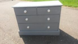 Antique 2 over 2 painted chest of drawers
