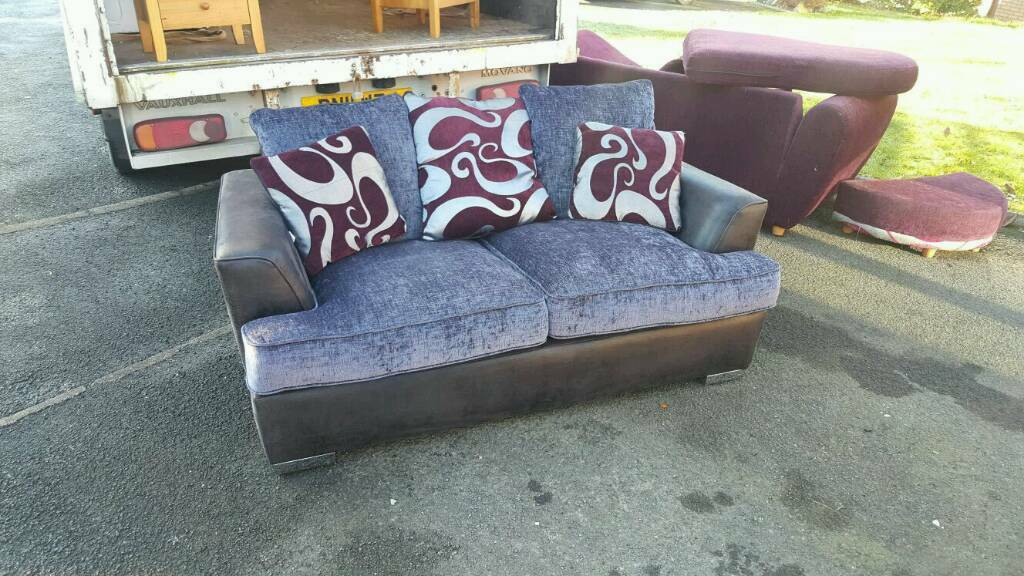 2 seater sofa in fabric from dfs in mint condition