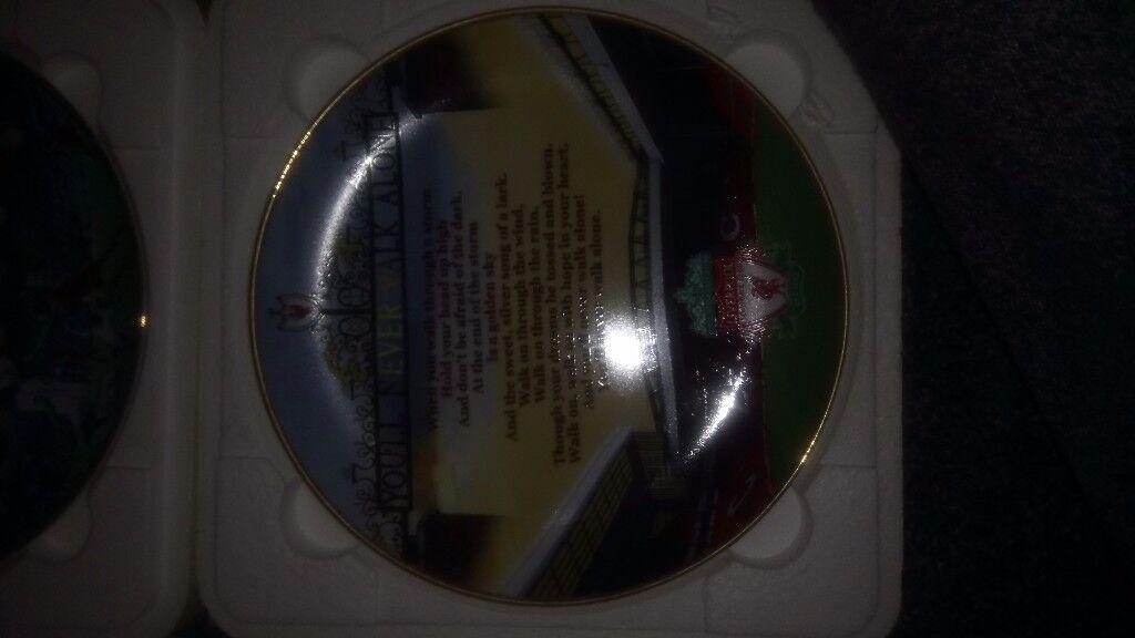 Commemorative Liverpool FC plates