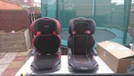Two Graco child seats