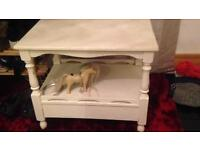 Wooden tv stand /table shabby chic style