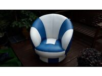 Swivel Tub Chair. Suit child or young teen. Nice condition Collect only.