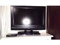 "Asda 26"" flat screen tv color with set up box"