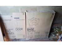 Bq kitchen units and draw packs walnut door fronts
