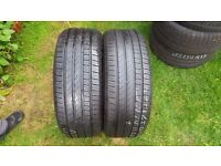TYRES X 2, 235 45 19 CONTINENTAL CONTISPORT CONTACT5 7 MM