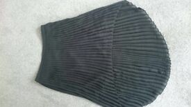 Zara black pleated skirt, size 8