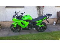Kawasaki ER6F 2008 Very Low Mileage with Top Box
