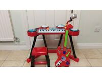 Kids Toy Piano and Guitar