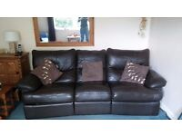 Large Leather reclining sofa