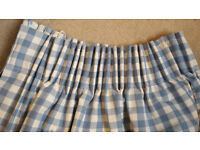 Blue and White Gingham Curtains (John Lewis)