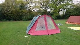 4 Person Retro Tent - Perfect for families and friends with large living area.