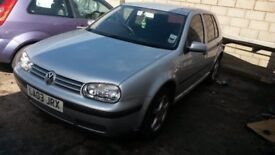 Breaking VW GOLF MK4 5DR 2003 1.4 PETROL 5 SPD MANUAL LA7W REFLEX SILVER