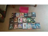 Joblot of 19 Dvds with cute holder