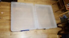 70L plastic storage box - fits perfectly under beds