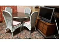 Rattan Table & 4 Chairs