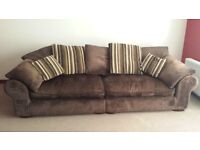 Large, comfy chocolate brown sofa/couch £50 ono