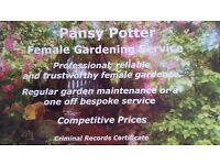 Professional, reliable and trustworthy female gardener.