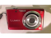 Panasonic Lumix FS16 Digital Camera - Red (14.1MP, 4x Optical Zoom) 2.7 inch LCD