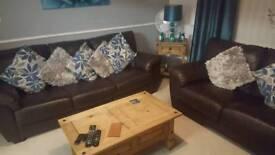Leather soffa