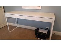 White IKEA desk (MICKE) - £30