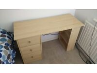 Wooden Desk with Drawers/Shelves