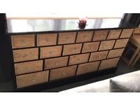 21 drawer bespoke unit