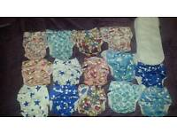 Reusable Cloth Diapers One size from birth to potty training