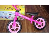 Chicco Pink Balance bike - very little used, in great condition
