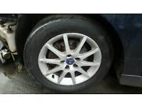 Saab 93 four alloys wheels with good tyres £100