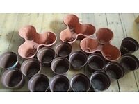 15 Single and 3 (triple sized) Pots for Sale+ Fertilizer