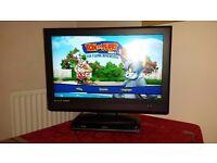"32"" flat screen HDMI TV plus DVD/Blu ray PLAYER bundle plus FREEVIEW recorder"