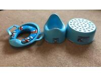 Potty, toilet seat and step. Thomas design. Great Condition. Collection Longlevens.